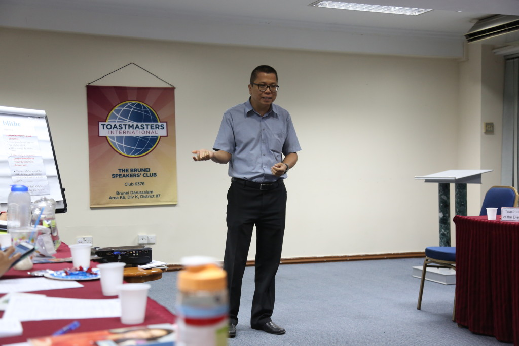 Ling feeling motivated to attend all the Toastmasters Club in Brunei
