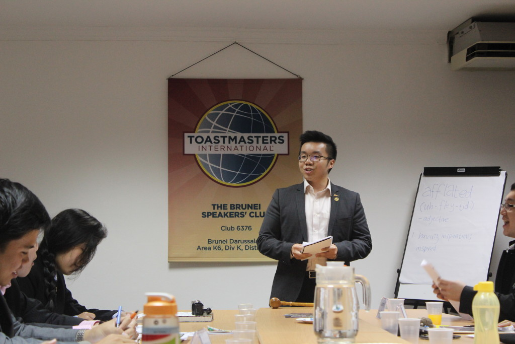 Jason, a member of OTTERS Toastmasters Club