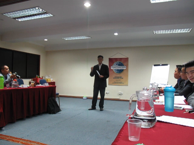 Macalister as our Toastmaster of the Evening