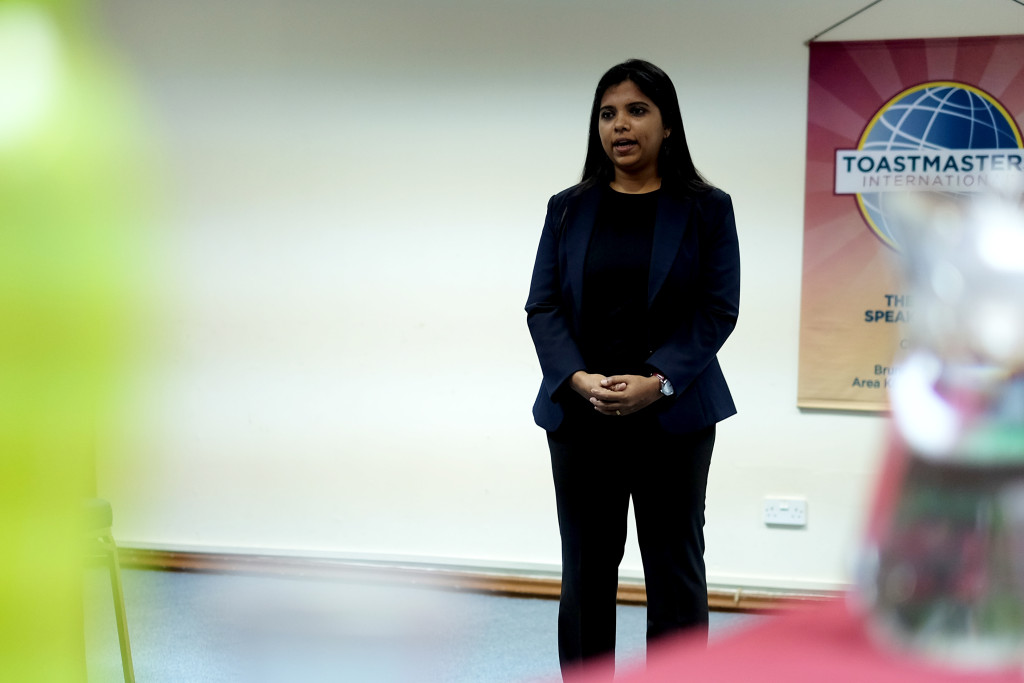 Pooja, our fervent Toastmaster of the Evening