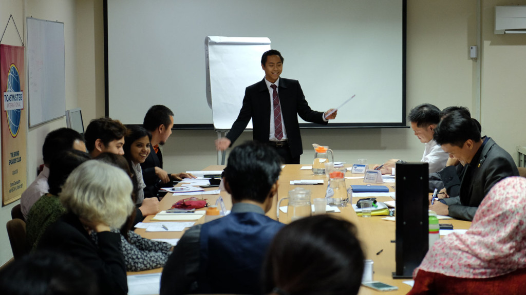 TM Aziman Nasir as first time Toastmaster of the Evening