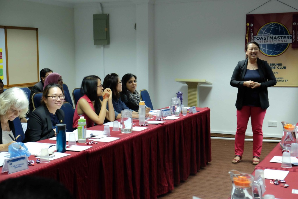 TM Ong Yin, our Toastmaster of the Evening