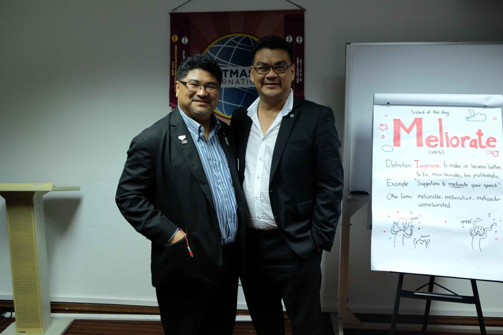 Shawn Narcic, DTM posing with visiting TLI Chair from Kota Kinabalu, Johan Alimin, DTM,