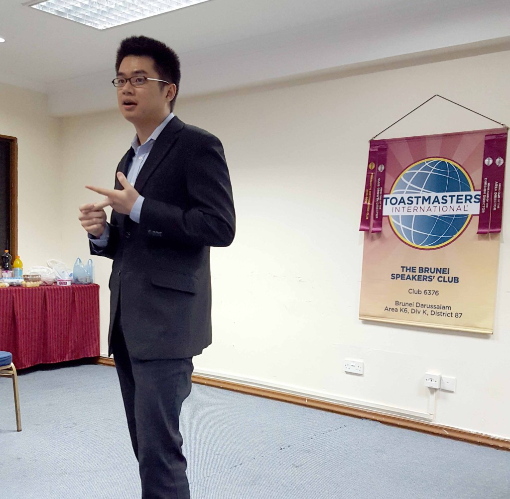 Kelvin as our Toastmaster of the Evening