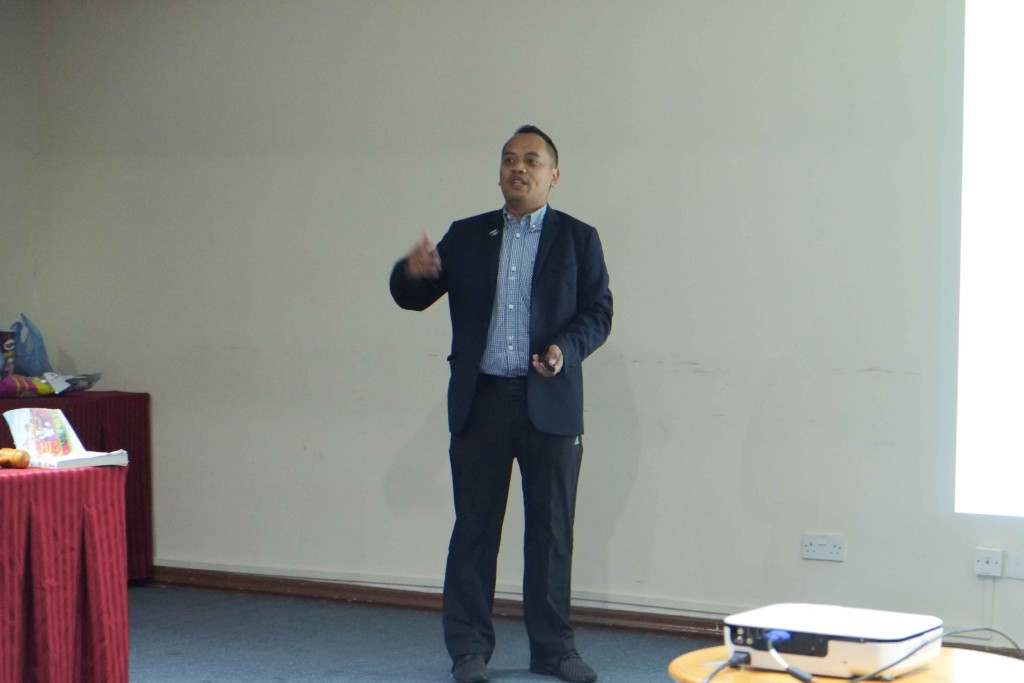 Rano Iskandar, CC, CL delivering his Sell a Product Speech