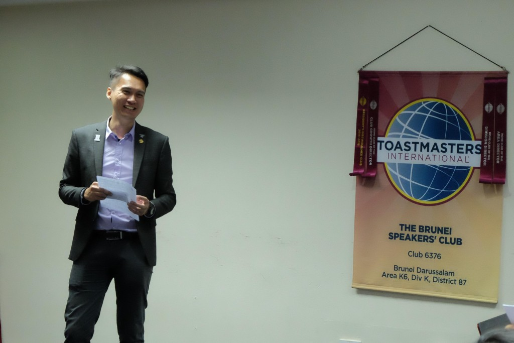 TM Gerald Goh as Toastmaster of the Evening