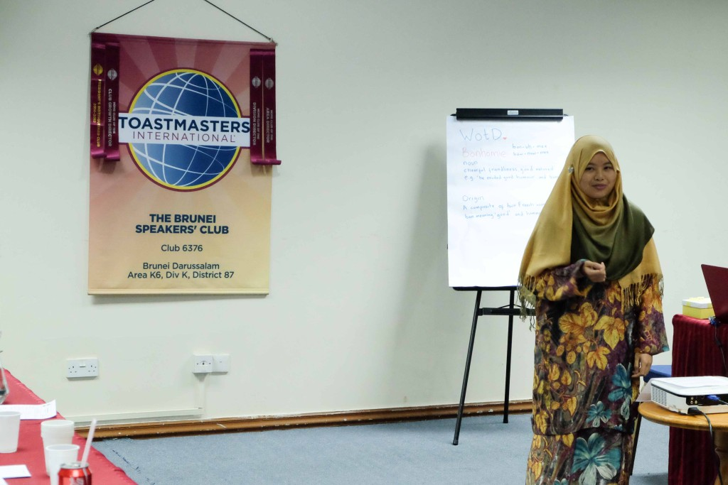 TM Awfa Mawawi deliver her first prepared speech