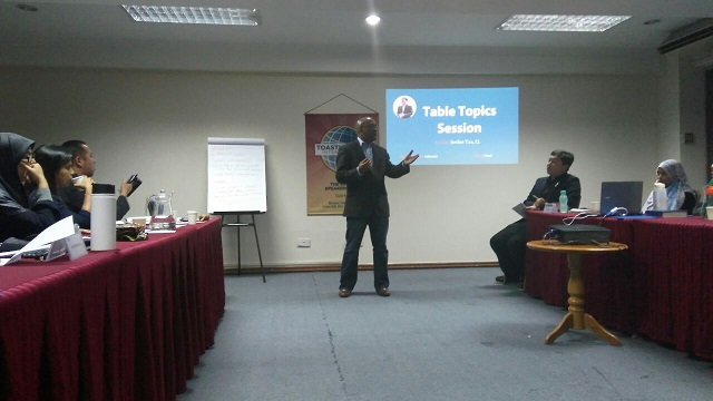 Guest Mark McKenzie visiting from Toastmasters in KL