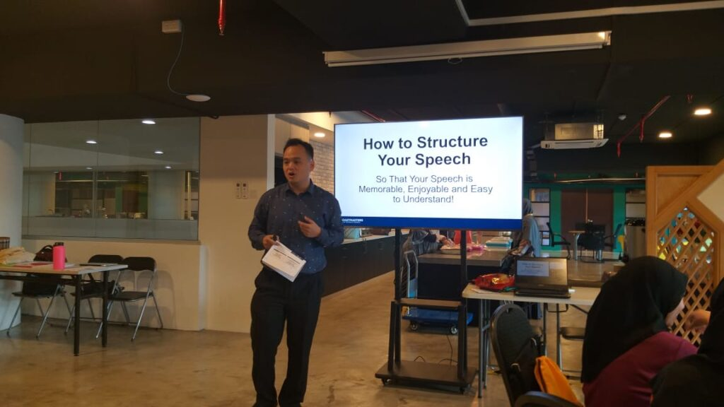 Ted Jee Conducting 'How to Structure Your Speech' Workshop